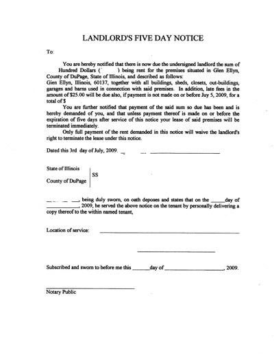 Sample Of Eviction Letter For Tenants - Template Examples